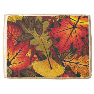 Autumn / Fall Leaves - Jumbo Shortbread Cookie