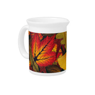 Autumn / Fall Leaves - Kitchen Pitcher
