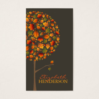 Autumn Fall Leaves Pop Tree Nature Business Card