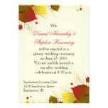 Autumn Fall Leaves Post Wedding Celebration Custom Announcements