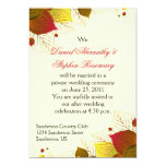 Autumn Fall Leaves Post Wedding Celebration Custom Announcements