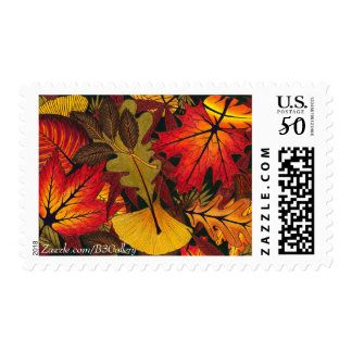Autumn / Fall Leaves Postage Stamp