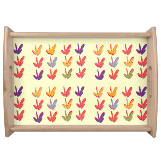 Autumn Fall Leaves Serving Tray Serving Platter