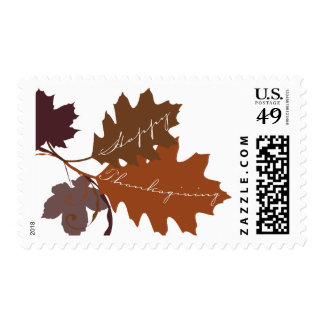 Autumn Fall Leaves Thanksgiving Holiday Stamps