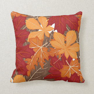 Autumn Fall Leaves Throw Pillow