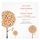 Autumn Fall Leaves Trees Wedding Save The Date Announcements