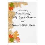 Autumn Fall Leaves Wedding Cards