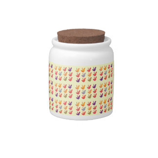 Autumn Fall Leaves Yellow Candy Jar