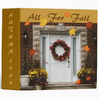 Autumn / Fall Memories Binder / Scrapbook