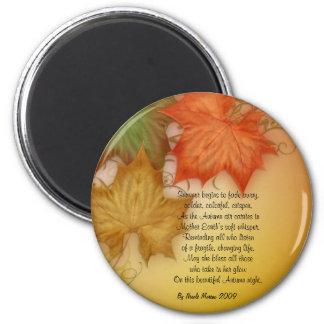 Autumn Fall original poetry Magnet