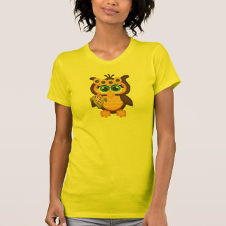 Autumn, Fall Owl with Sunflowers Tee Shirts
