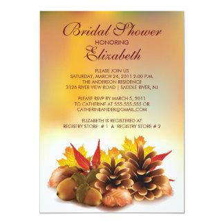 Autumn Fall Pinecones Bridal Shower Invitation