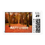 autumn - fall postage stamps