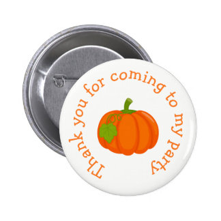 Autumn Fall Pumpkin 'thank you for coming' Button