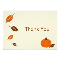 Autumn Fall Pumpkin Thank You Note Cards