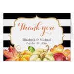Autumn Fall Pumpkins Maple Leaves Thank You Card