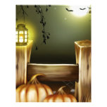 Autumn Fall Pumpkins Moon Night Destiny Personalized Letterhead