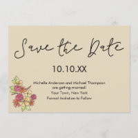 Autumn Fall Rustic Floral Save the Date