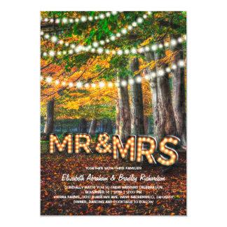 Autumn Fall Rustic Woodland Tree Wedding Card