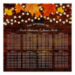 Autumn Fall String Lights Wood Rustic Wedding Seat Poster
