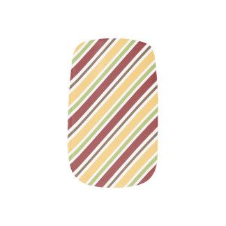 Autumn Fall stripes Minx Nail Wraps