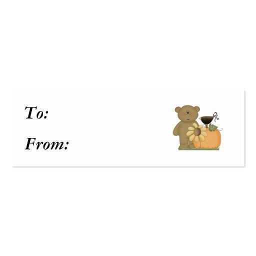 autumn fall teddy bear cutie business card templates