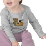 autumn fall teddy bear cutie t-shirt