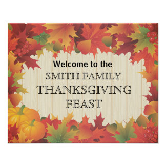 Autumn / Fall / Thanksgiving Family Feast Poster