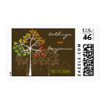 Autumn / Fall Trees Invitation Announcement Stamps