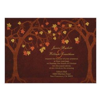 Autumn / Fall Trees Wedding Invitation
