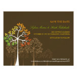 Autumn Fall Trees Woodland Wedding Save The Date Invite