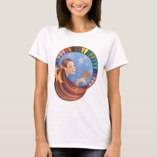 Autumn(fall) type girl with palette T-Shirt