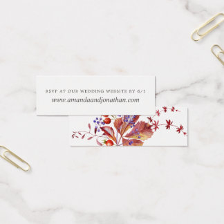 Autumn - Fall Watercolor Wedding RSVP