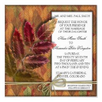 Autumn Fall Wedding invitation