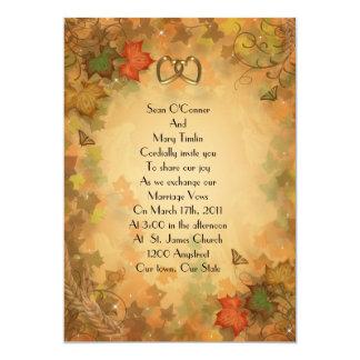 Autumn Fall Wedding Invitation leaves