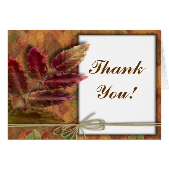 Autumn Fall wedding Thank You notecards Card