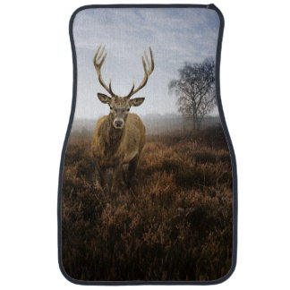 Autumn Fall with beautiful red deer stag Car Floor Mat