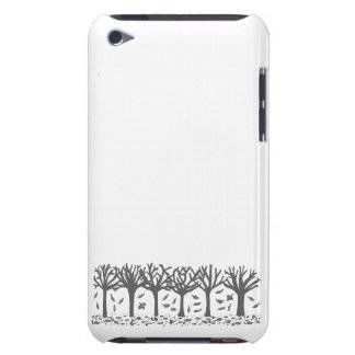 Autumn falling leaves silhouette black + white barely there iPod cover