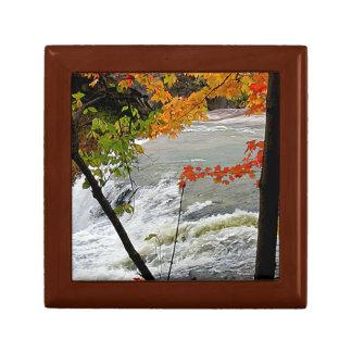 Autumn Falls Closeup Jewelry Box