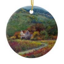 Autumn Farm Ceramic Ornament
