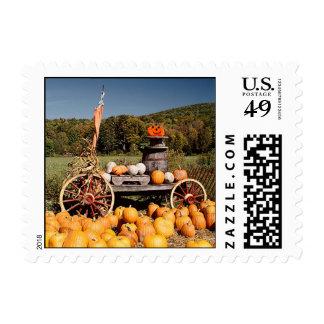Autumn Farm postage stamps
