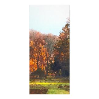 Autumn Farm With Harrow Rack Card
