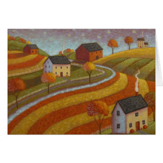 Autumn Farmland Card