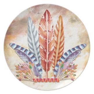 Autumn Feathers Dinner Plate