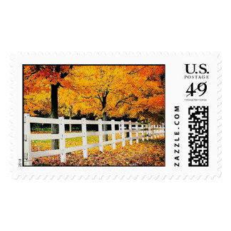 Autumn Fence Postage