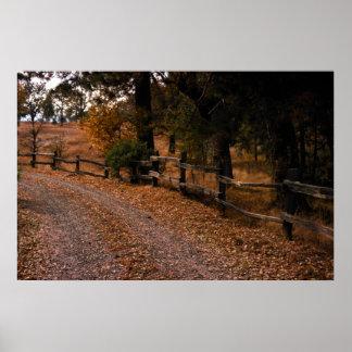Autumn fence print