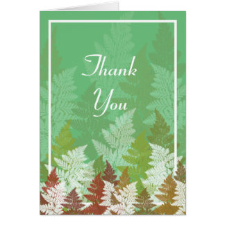 Autumn Fern Grove Stationery Note Card