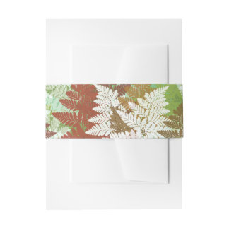 Autumn Fern Grove Invitation Belly Band