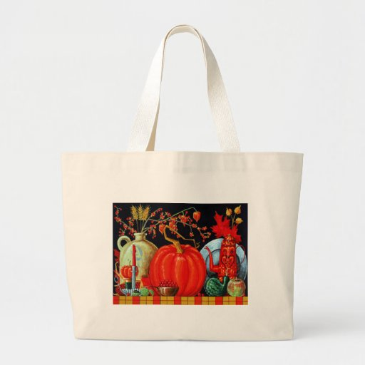 Autumn Festive Table Canvas Bags