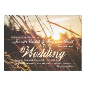 Autumn Field Sunset Fall Wedding Invitations